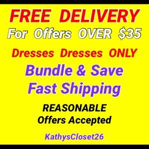 FREE  DELIVERY For  DRESS  Offers  OVER  $35